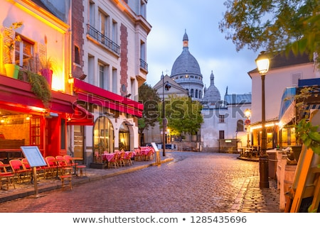 Sacre Coeur in Montmartre, Paris at night Stock photo © vichie81