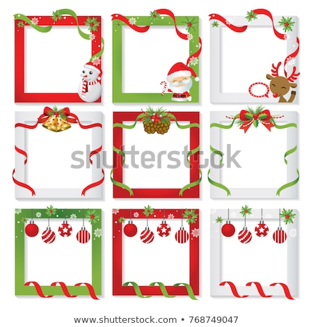 christmas border photo frame stock photo © irisangel