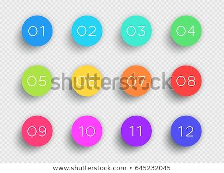 vector web button set of tweleve Stock photo © Pinnacleanimates