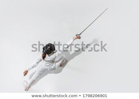 sword isolated on white Stock photo © ozaiachin