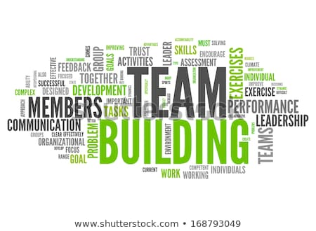 word cloud - team building Stock photo © master_art