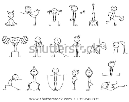 Yoga Stick Figure Set Stock photo © cteconsulting