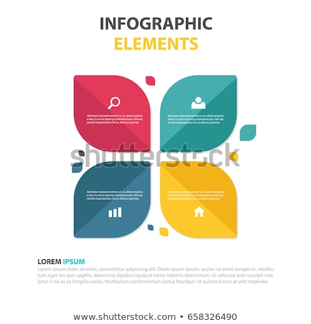 modern vector abstract step leaf lable infographic elements stock photo © jiunnn