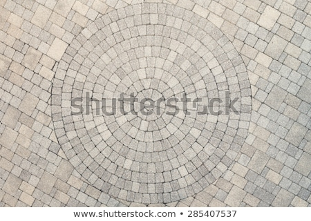Circle Design pattern in patio paving stock photo © ozgur