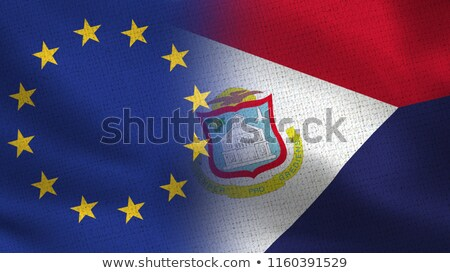 European Union and Saint Martin Flags  Stock photo © Istanbul2009