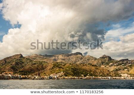 before storm in taormina sicily italy stock photo © capturelight