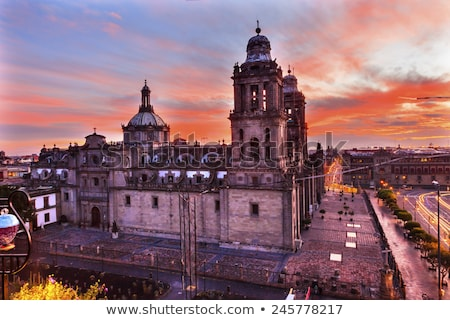 Templomok Mexikóváros Mexikó festett utcák központ Stock fotó © billperry