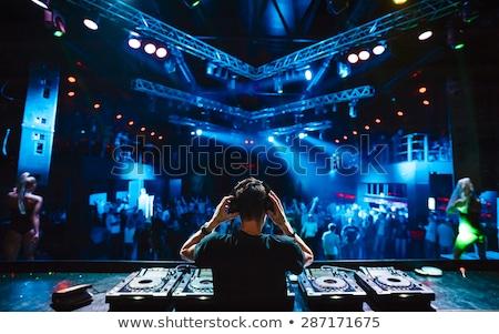 Clube legal silhueta isolado música cara Foto stock © sahua