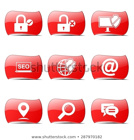 Seo Internet signo rojo vector diseno Foto stock © rizwanali3d