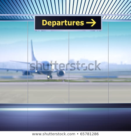 Tourist info signage in airport Stock photo © ssuaphoto
