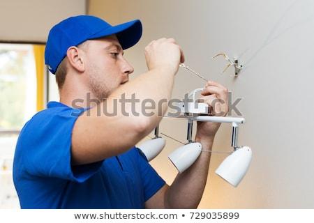Electrician Assembling Light Stock photo © Lighthunter