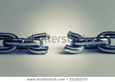 Törött lánc szimbólum kettő különböző fa Stock fotó © Lightsource