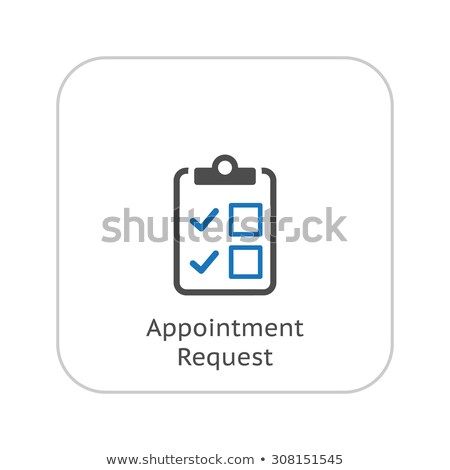 Randevu talep tıbbi hizmetleri ikon dizayn Stok fotoğraf © WaD