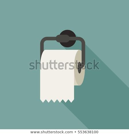 Toiletpapier icon vector element teken label Stockfoto © blaskorizov