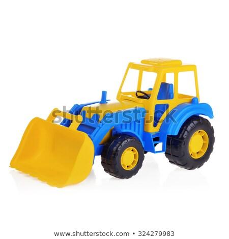 Zdjęcia stock: Plastikowe · zabawki · spychacz · odizolowany · biały · ciężarówka