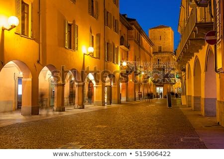 Akşam görmek İtalya binalar towers Stok fotoğraf © rglinsky77