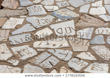 Secure word made by letter pieces Stock photo © fuzzbones0