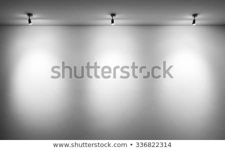 room with three spotlight lamps stock photo © stevanovicigor
