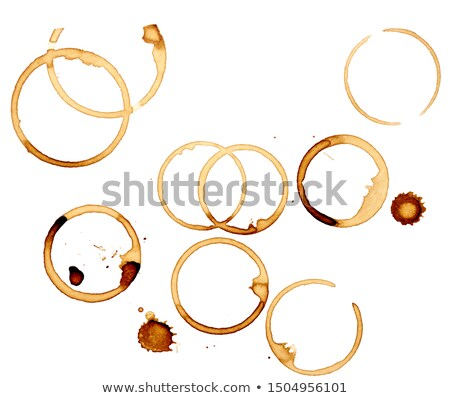 close up of coffee cup stains marks on white background stock photo © tetkoren