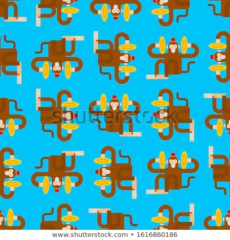 Vector of monkey with cymbals. Stock photo © Morphart