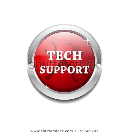 tech support glossy shiny circular vector button stock photo © rizwanali3d