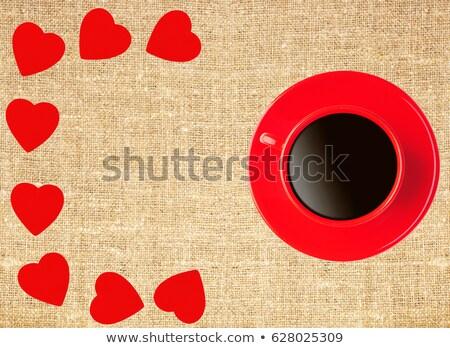 piros · csésze · dísz · karácsony · izolált · fehér - stock fotó © tetkoren