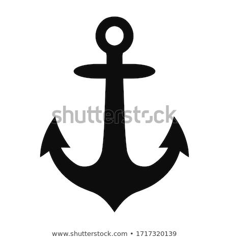 navy anchor - icon symbol Stock photo © djdarkflower