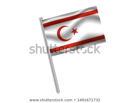 Törökország török köztársaság észak Ciprus zászlók Stock fotó © Istanbul2009