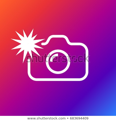 Stock photo: digital Camera with flash