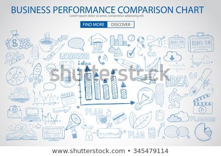 Działalności wydajność porównanie wykres gryzmolić projektu Zdjęcia stock © DavidArts