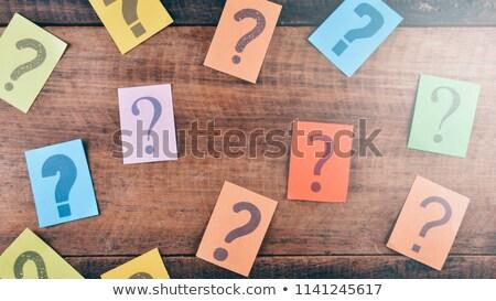 часто задаваемые вопросы многие вопросы ярко золото из Сток-фото © 3mc