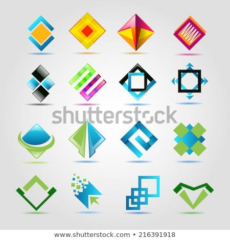 3d icon set / real estate / pyramide Stock photo © djdarkflower