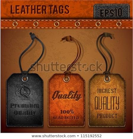 Texture leather set vector. EPS 10 Stock photo © beholdereye