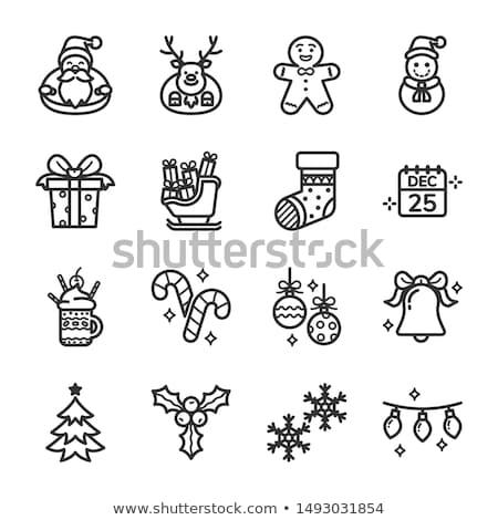 vrolijk · christmas · collectie · wensen · clipart - stockfoto © gigi_linquiet