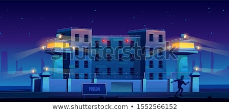 a prison at night  Stock photo © klss