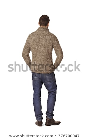 closeup image of a man standing back stock photo © zurijeta