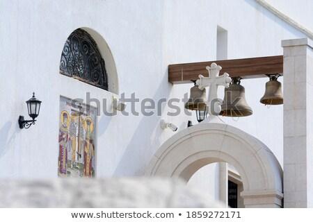 Manastır ana kilise beyaz kule mağara Stok fotoğraf © Steffus