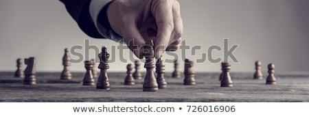 Negocios decisión problema estrategia papel barco Foto stock © Lightsource