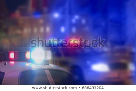 Criminaliteit achtergrond dood Rood print silhouet Stockfoto © alekup