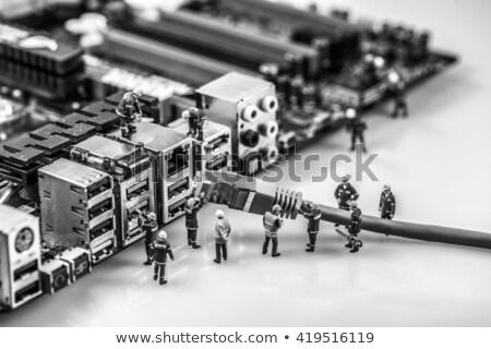 сеть · кабеля · связи · интернет · работу - Сток-фото © kirill_m