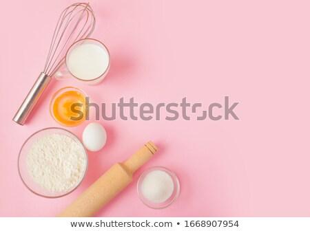 kész · sütés · hozzávalók · kellékek · használt · édes - stock fotó © lincolnrogers