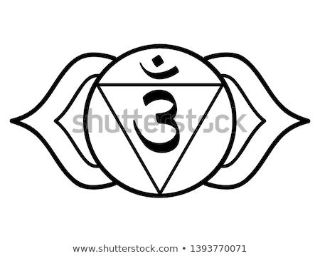 Chakra seis um sete indiano ioga Foto stock © hpkalyani