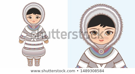 Vecotr Yurt Eskimos. Stock photo © studioworkstock
