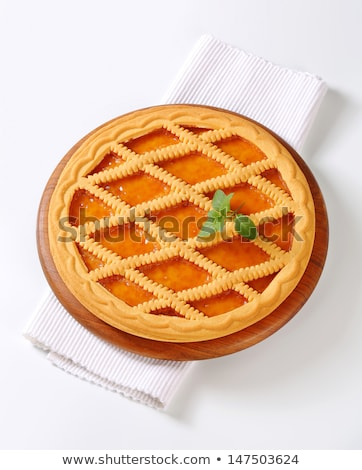 Lattice topped apricot tart Stock photo © Digifoodstock