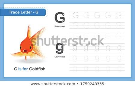 Mektup g akvaryum balığı örnek arka plan sanat eğitim Stok fotoğraf © bluering