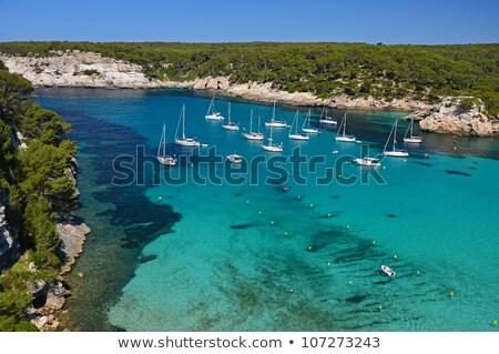 View on Mediterranean sea at Cala Galdana beach, Menorca, Spain. Stock photo © tuulijumala