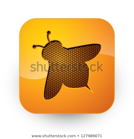Square buttons with insects Stock photo © bluering