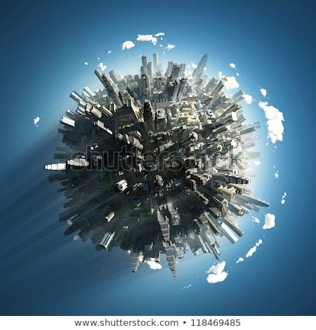 big city on small planet stock photo © klss