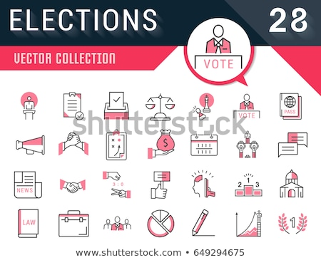 Vote election 2016 icon calendar Stock photo © Oakozhan
