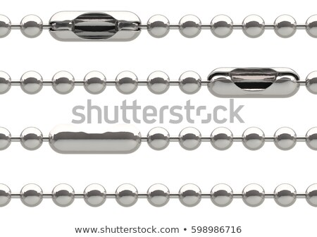 Seamless silver ball chain with lock isolated on white Stock photo © pakete